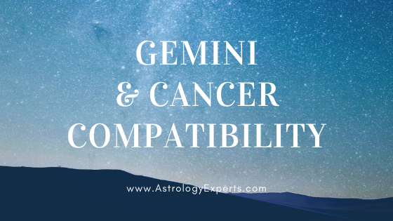 The compatibility of Gemini and Cancer Horoscopes