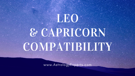 The compatibility of Leo and Capricorn Horoscopes